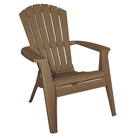 stackable adirondack chairs shop mfg corp earth brown resin stackable patio