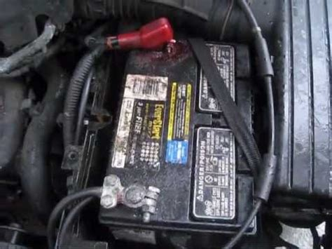 battery cable negative sideand terminal replace
