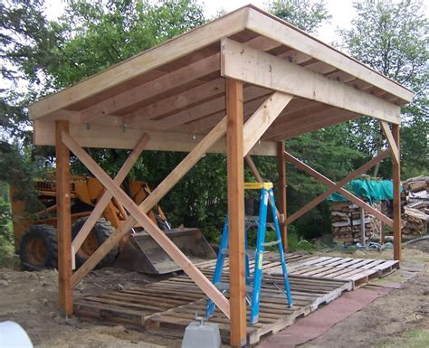 build  firewood shed  woodworking