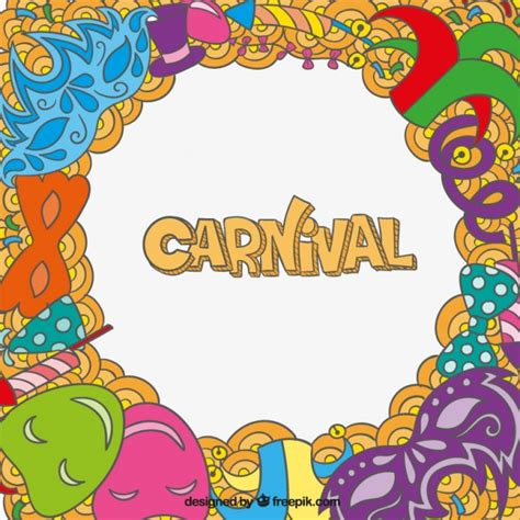 free vector doodle background carnival background in doodle style vector free