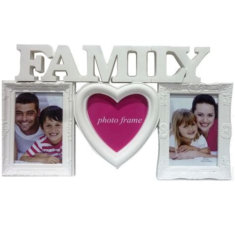 family shot aperture embossed family photo frame multi picture wall hanging