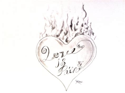 love is pain tattoos is design by odrozz on deviantart