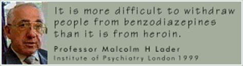 Benzodiazepine Withdrawal Letter Benzo Org Uk Professor Malcolm H Lader Quotations Cv