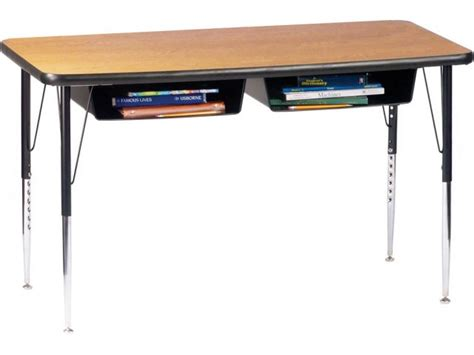 Open Front Double School Desk Laminate Top Acd 1600 College Student Desks