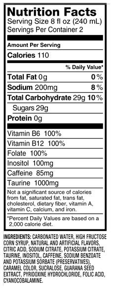 energy drink ingredients caffeine in dna energy drink