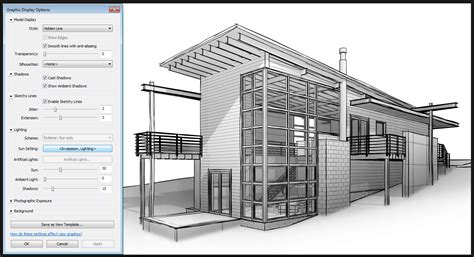 Falling Water Interior what revit wants nice sketchy lines view settings for