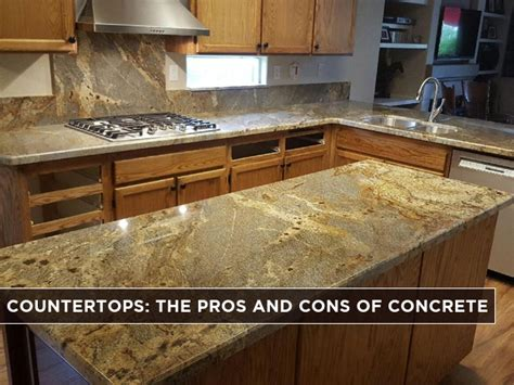 pros and cons of concrete countertops the pros and cons of concrete countertops interior