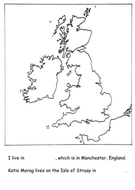 Katie Morag- simple map of British Isles | Teaching Resources