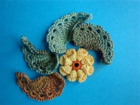 crochet leaf pattern video dailymotion вязание крючком турецкий огурец листик пейсли урок 280