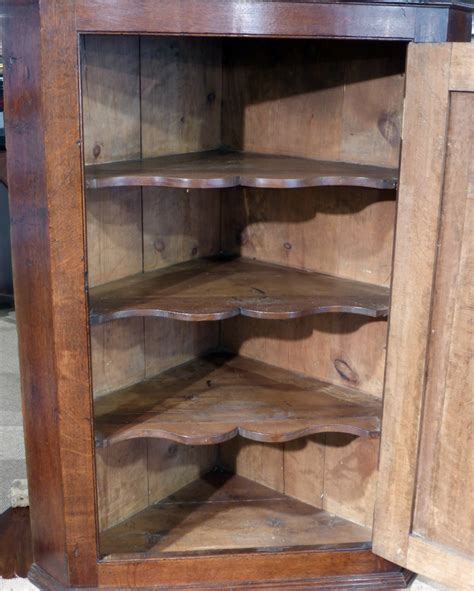 Antique corner cupboard, oak corner cupboard, wall hanging