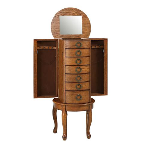 jewelry armoire hardware elegant jewelry armoire in burnished oak or cherry with