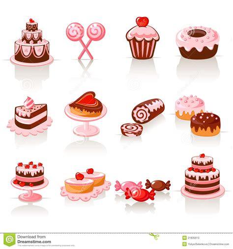 clipart dolci icone dolci della pasticceria illustrazione vettoriale