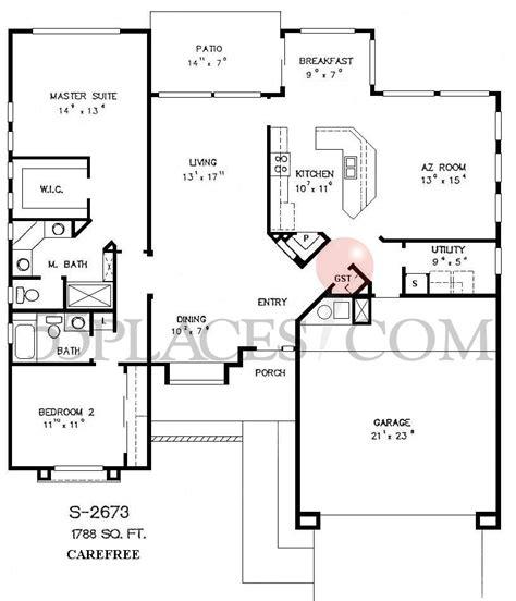 sun city west az floor plans s2673 carefree floorplan 1788 sq ft sun city west