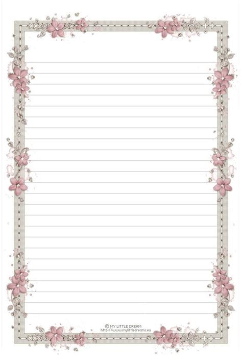 printable notebook paper with designs blank notebook paper printable clipart best