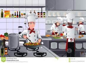 Raw Kitchen Cabinets sc 232 ne 224 l int 233 rieur de cuisine de restaurant illustration