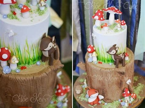 images  baby deer cakes  woodland baby shower  pinterest cookie cakes