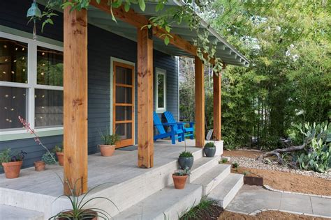 Post Columns Post And Beam Design Ideas Porch Contemporary With Covered