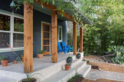 Concrete Porch Designs Porch Contemporary With Covered