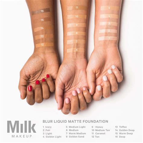 blur liquid matte foundation milk makeup