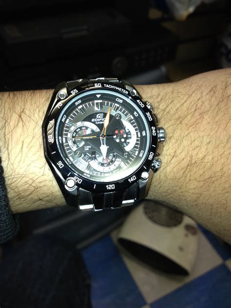 Casio Edifice Ef550 550 Black Stainless Steel Solid s casio edifice exclusive chronograph ef 550d
