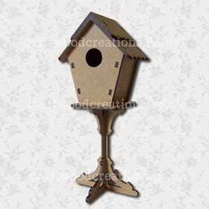 3d bird house on stand button it craftwood creations