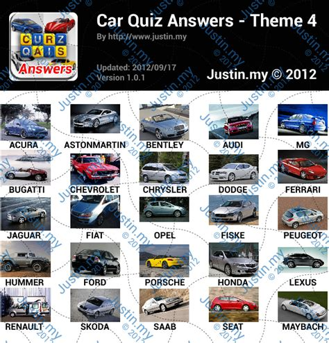 theme quiz with answers cars quiz answers page 4 justin my