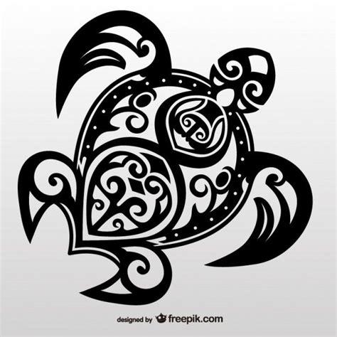tartaruga tribal vetor tatuagem maori tribal turtle and