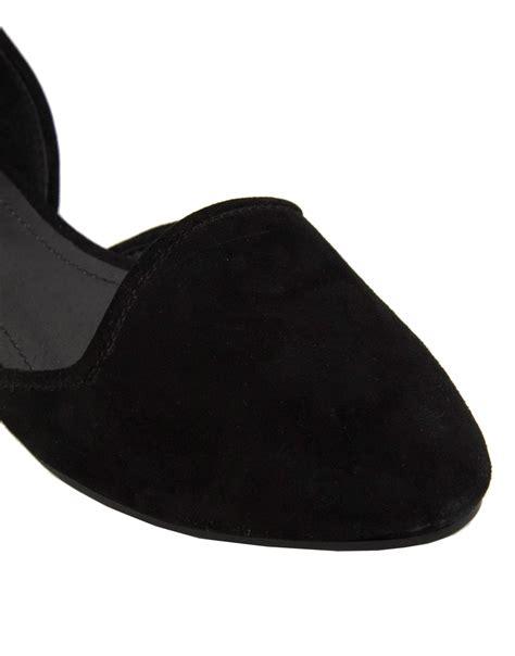 steve madden slippers steve madden v cut out suede slipper shoes in black lyst