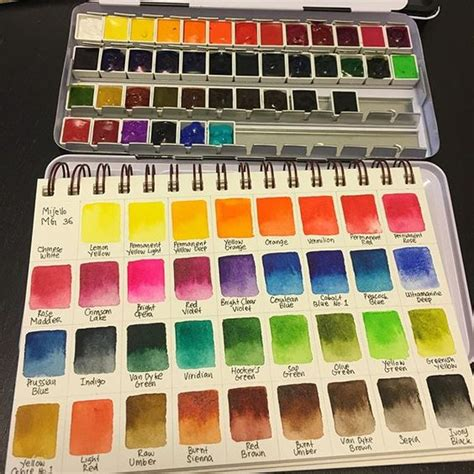 holbein watercolor swatches instagram media vanityv color swatch from mijello