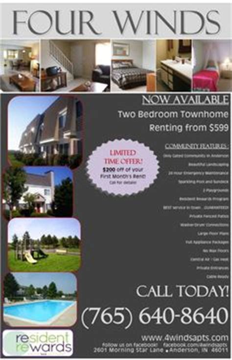 Apartment Specials Ideas Move In Specials Apartment Flyer Marketing Ideas