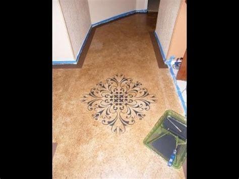 diy painting concrete floors faux acid stain  youtube