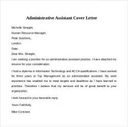 Administrative Aide Cover Letter by Cover Letter Exles 12 Free Documents In Pdf Word Psd Sle Templates