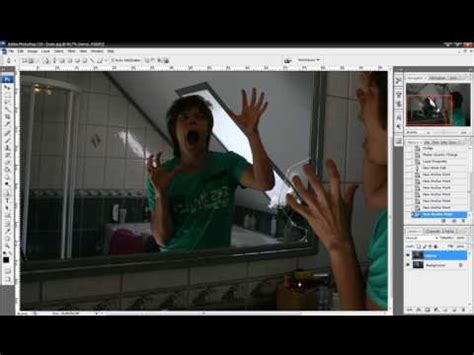 tutorial photoshop reflection effect photoshop tutorial how to change the mirror reflection