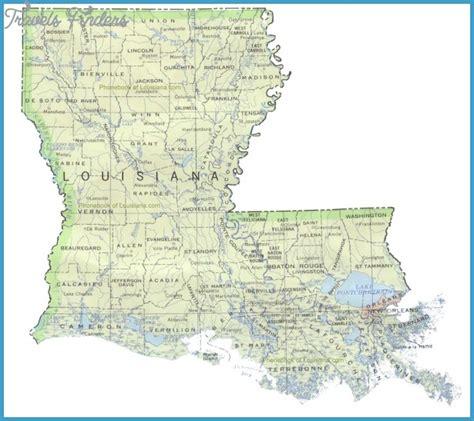 louisiana on map louisiana map travelsfinders