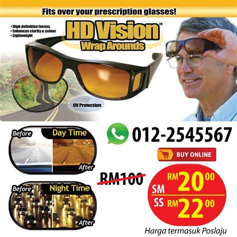 Cermin Mata Untuk Silau hd vision wrap arounds sesuai untuk mata silau ketika memandu kedai malaysia