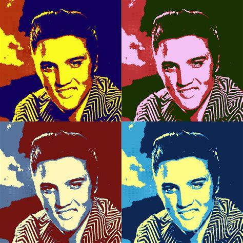 elvis presley pop art painting cool colorful elvis presley pop art poster painting by pd