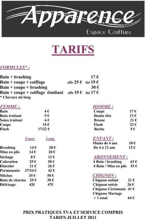 Tarif Coloration Coiffeur by Tarif Salon De Coiffure Idee De Coupe Homme Abc Coiffure