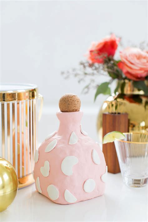 diy diy clay decanter sugar cloth