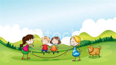 imagenes de niños jugando ala cuerda ni 241 os jugando saltar la cuerda fotograf 237 as de stock