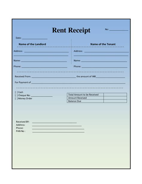 In Receipt Template by Rent Receipt Template Template Trakore Document Templates