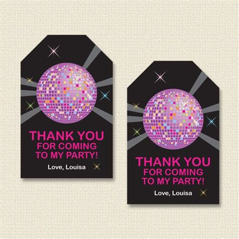 printable dance tags personalized disco or dance party favor tags diy