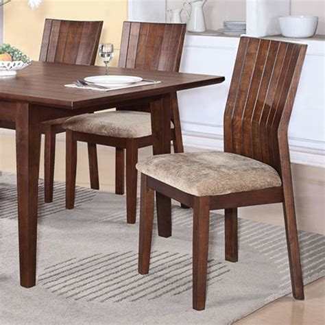 dreamfurniture mauro brown finish dining table set