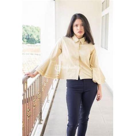 Baju Atasan Wanita Terbaru Az Sabrina White baju atasan wanita zwetta trompet crop katun terbaru harga murah bandung dijual tribun