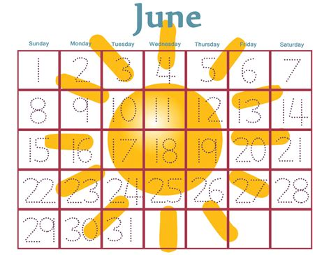 printable calendar preschool 6 best images of free printable preschool calendar numbers
