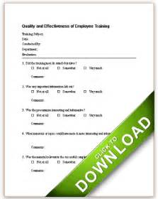 quality and effectiveness of employee training