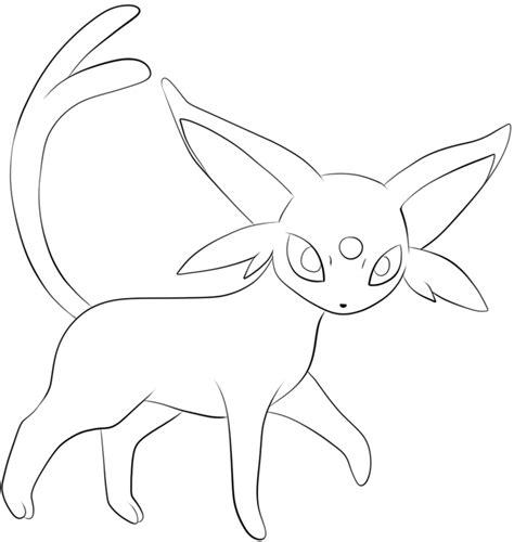196 Espeon Lineart By Lilly Gerbil On Deviantart Espeon Coloring Pages