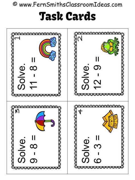 Math Task Card Templates by 25 Best Ideas About Task Cards On Free Task