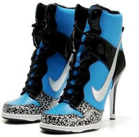 nike sneaker high heels tennis shoes stilettos picture show heels and jordans