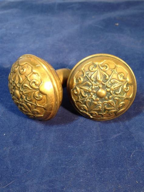 Vintage Brass Door Knobs by Antique Pair Of Decorative Brass Door Knobs Ornate