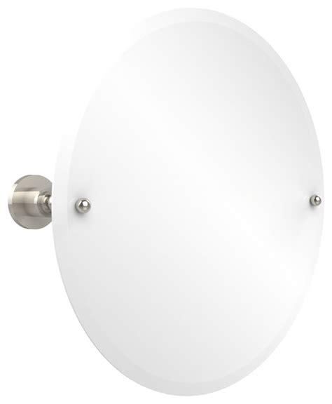 tilting bathroom mirror polished nickel 22 quot round tilt mirror contemporary bathroom mirrors